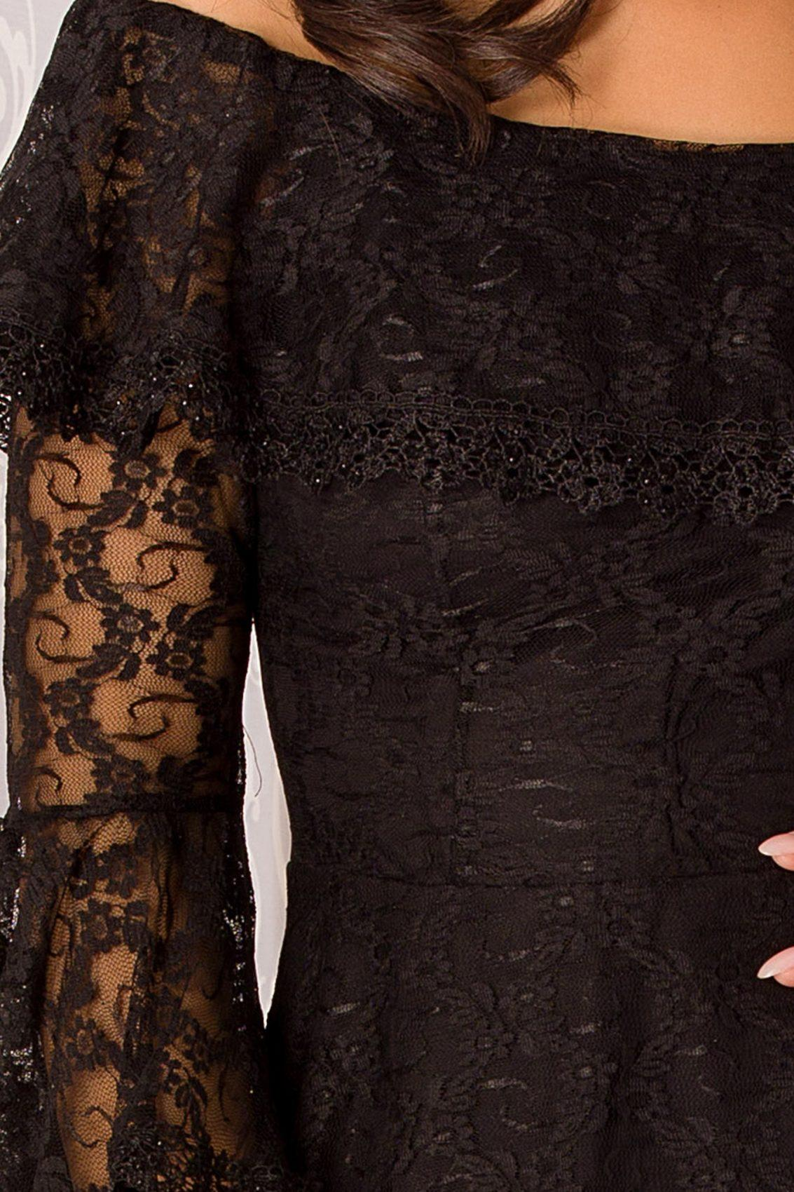 Medana Midi Μαύρο Φόρεμα 5042