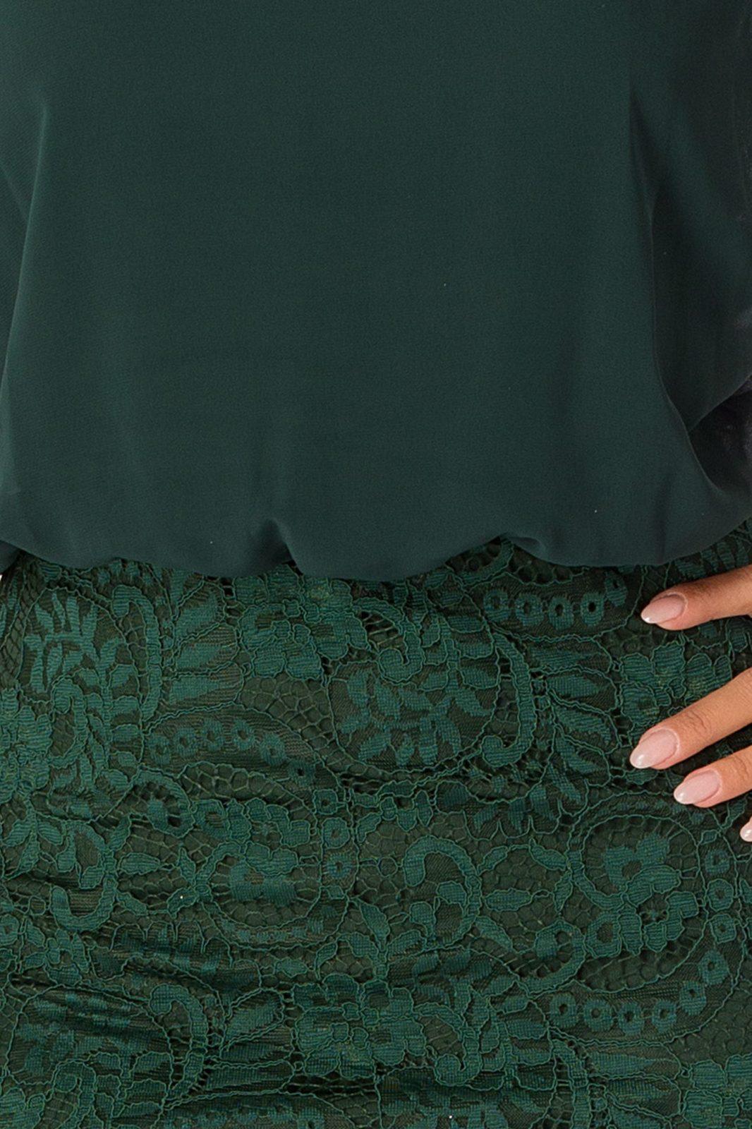 Trisha Midi Πράσινο Φόρεμα 5008