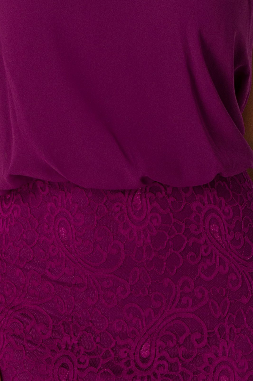Trisha Midi Βιολετί Φόρεμα 5009
