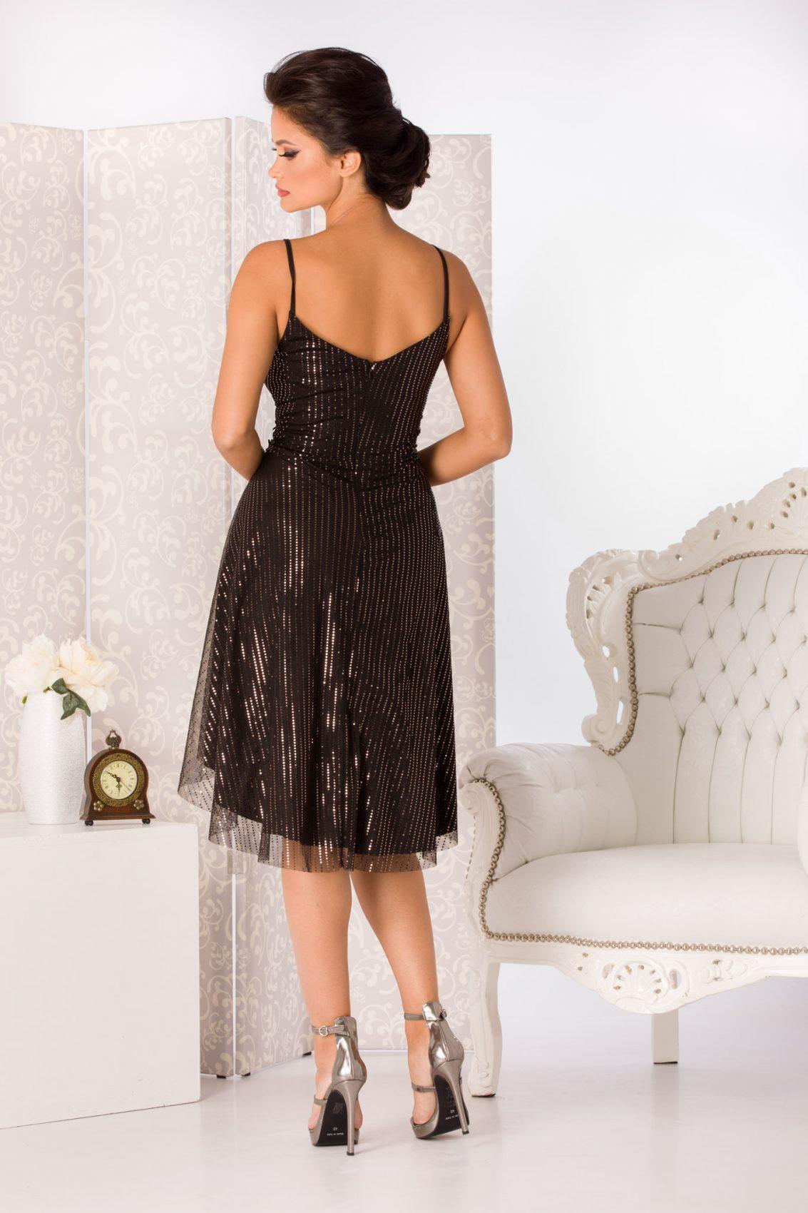 Meryem Midi Μαύρο Φόρεμα 5041