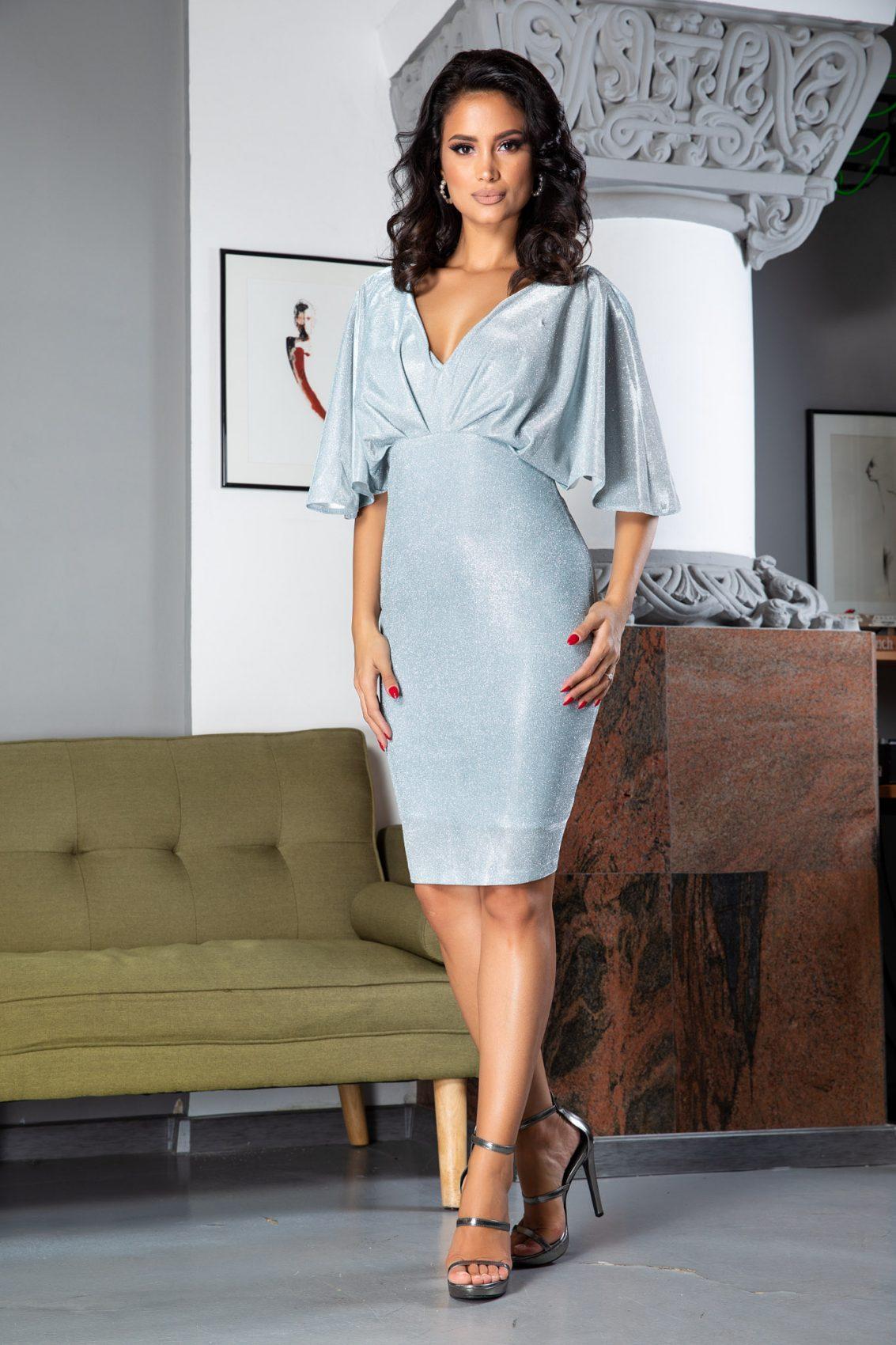 Luana Midi Γαλάζιο Φόρεμα 5063