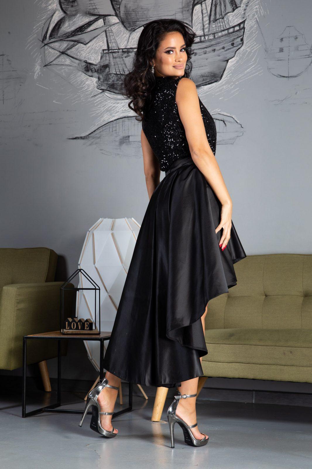 Lydia Midi Μαύρο Φόρεμα 4950