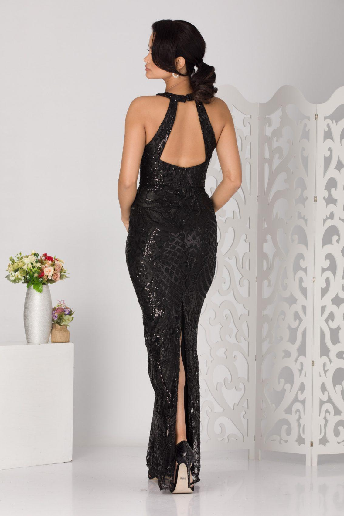 Galya Maxi Μαύρο Φόρεμα 5114