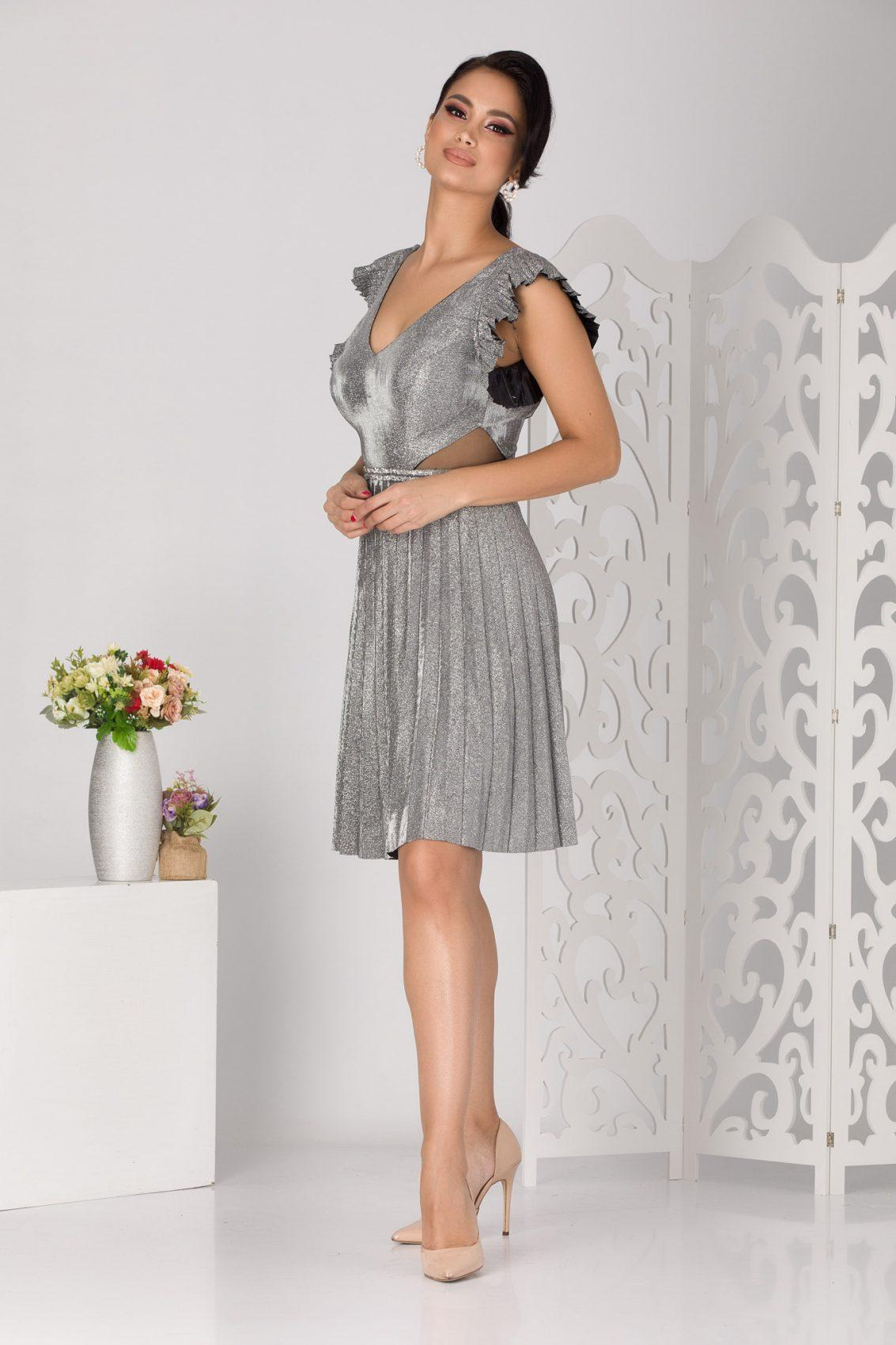 Allana Ασήμι Φόρεμα 5109