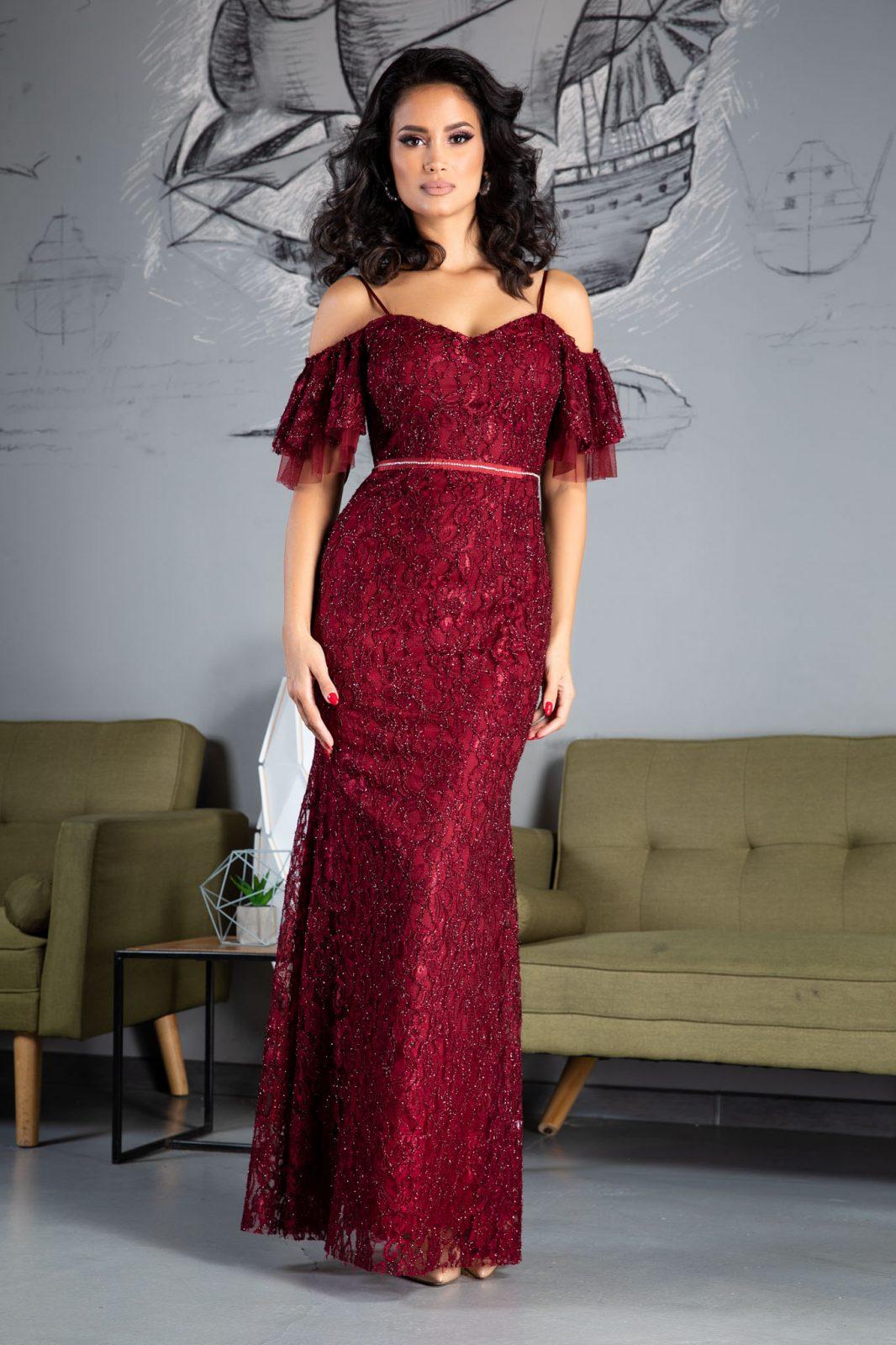 Ylinca Burgundy Dress