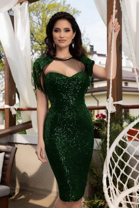 Geena Light Green Dress