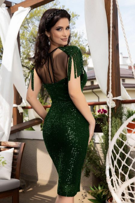 Geena Light Πράσινο Φόρεμα 5088