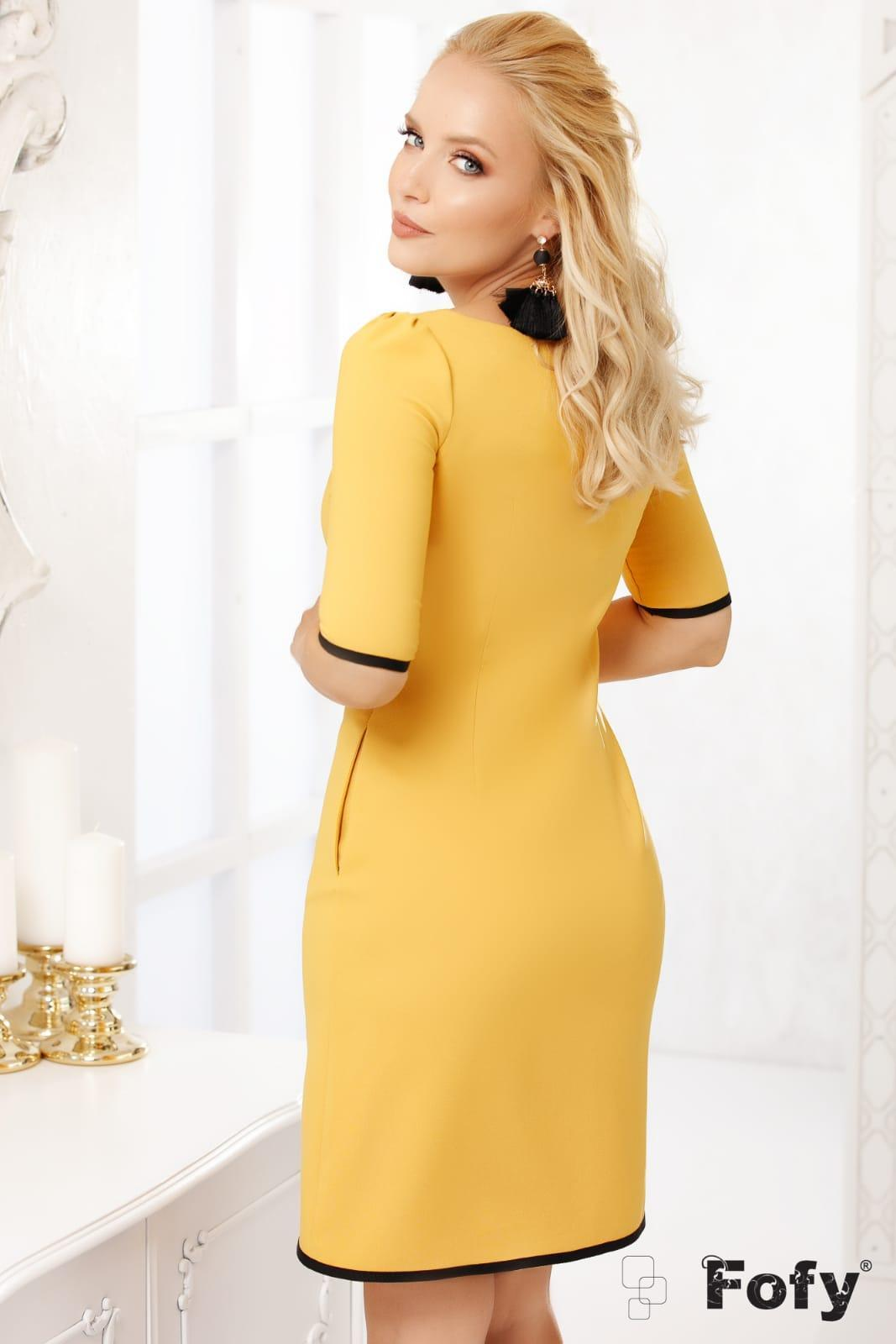 Zina Mini Κίτρινο Φόρεμα 5079
