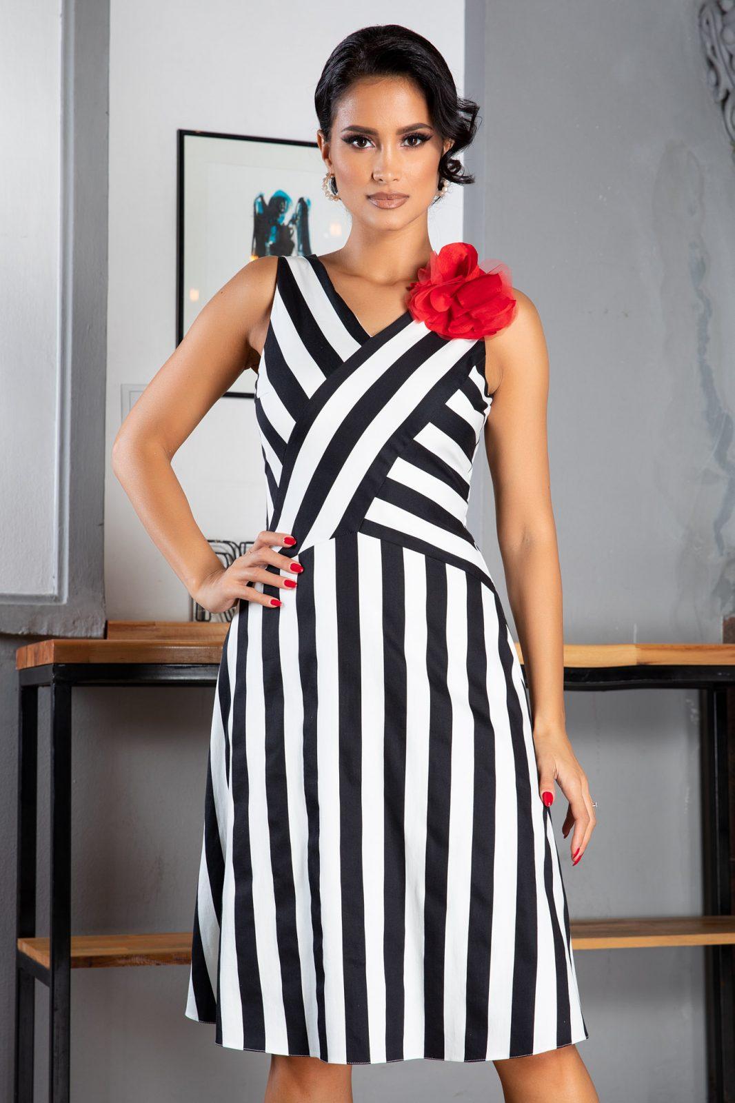 La Donna Cecille Ριγέ Φόρεμα 5038
