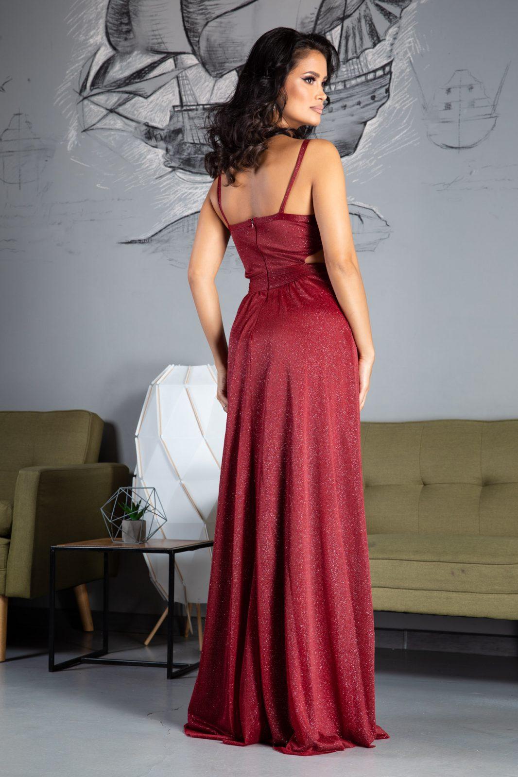 Amaryllis Maxi Μπορντό Φόρεμα 5021