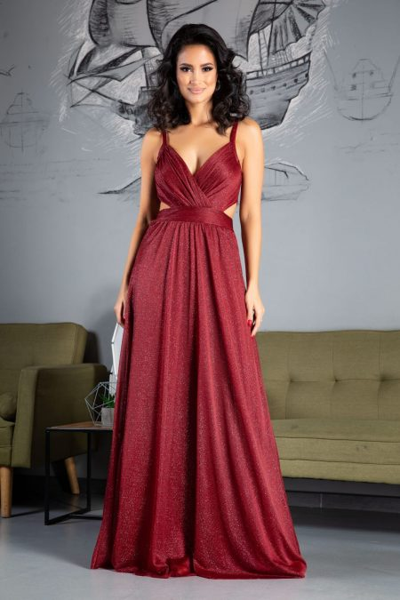 Amaryllis Burgundy Dress