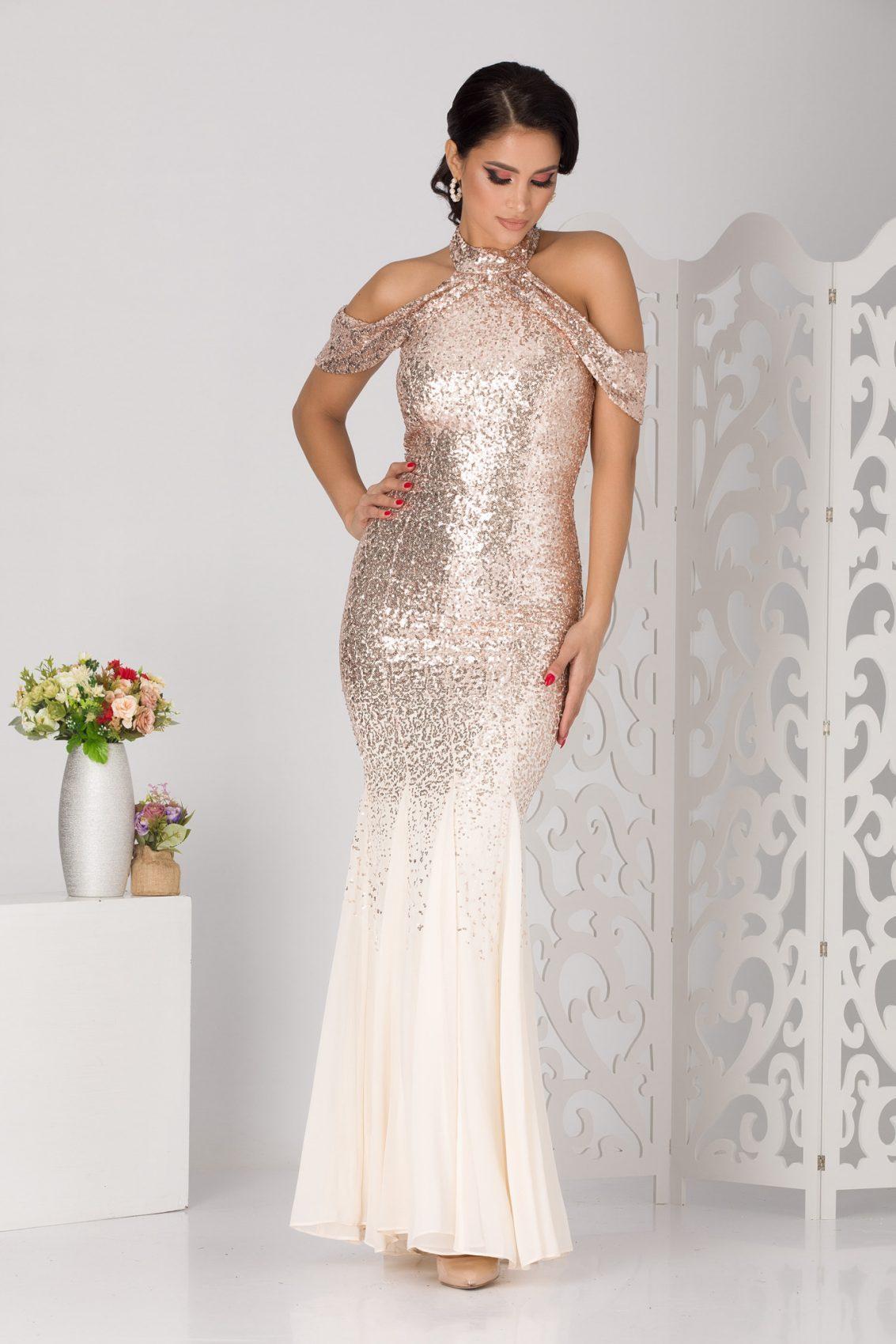 Melissa Maxi Nude Φόρεμα 5104