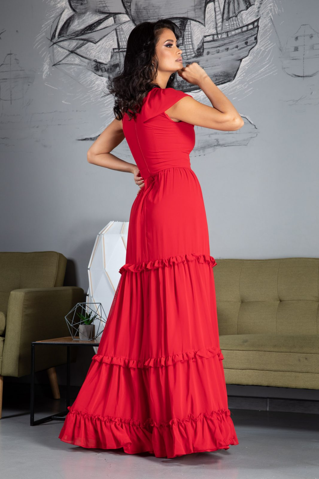 Rapsody Κόκκινο Φόρεμα 4809