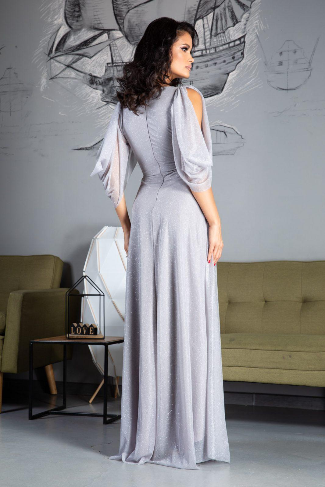 Teresa Maxi Γκρι Φόρεμα 5029 1