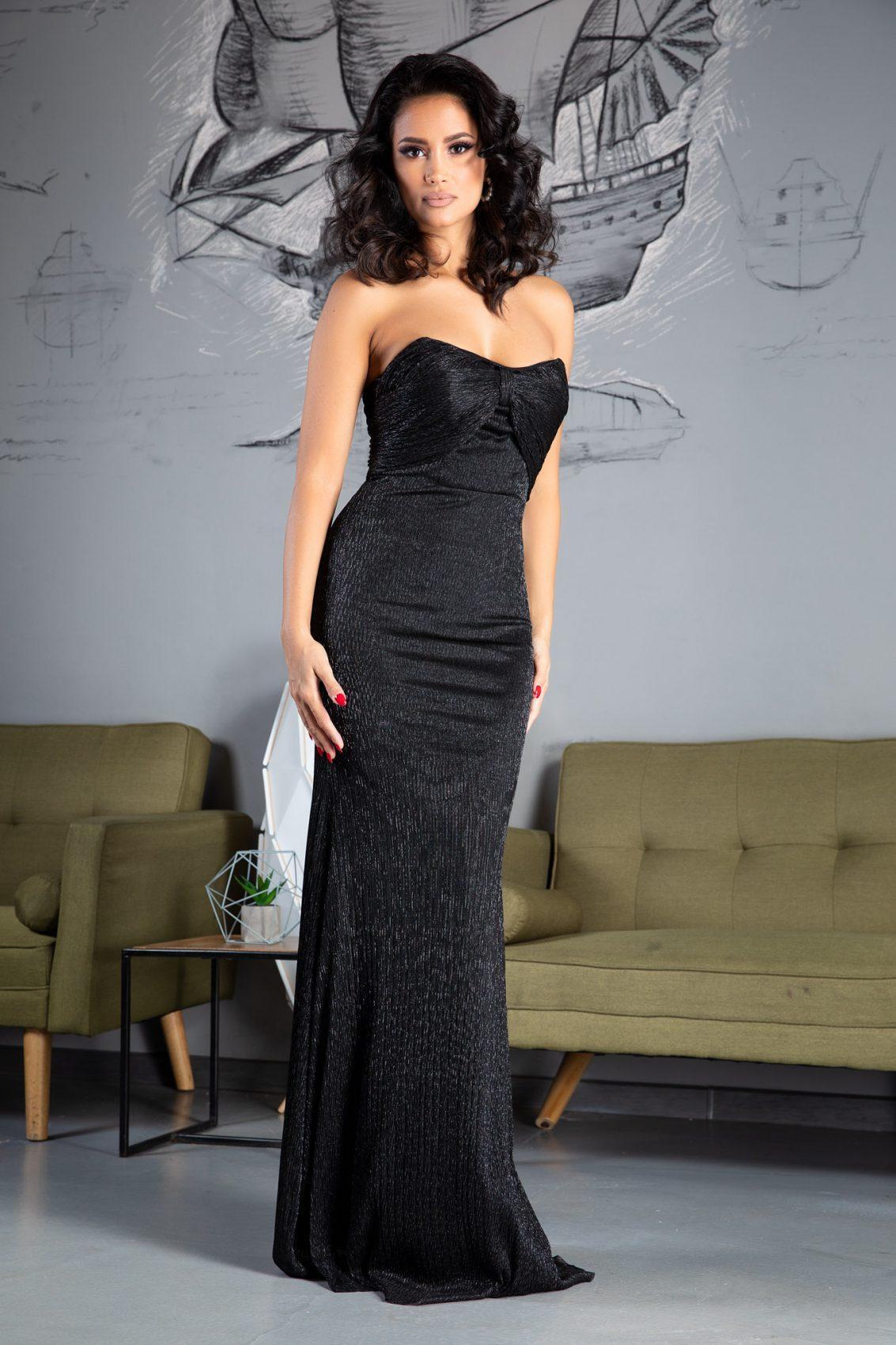 Wonderful Maxi Μαύρο Φόρεμα 5074