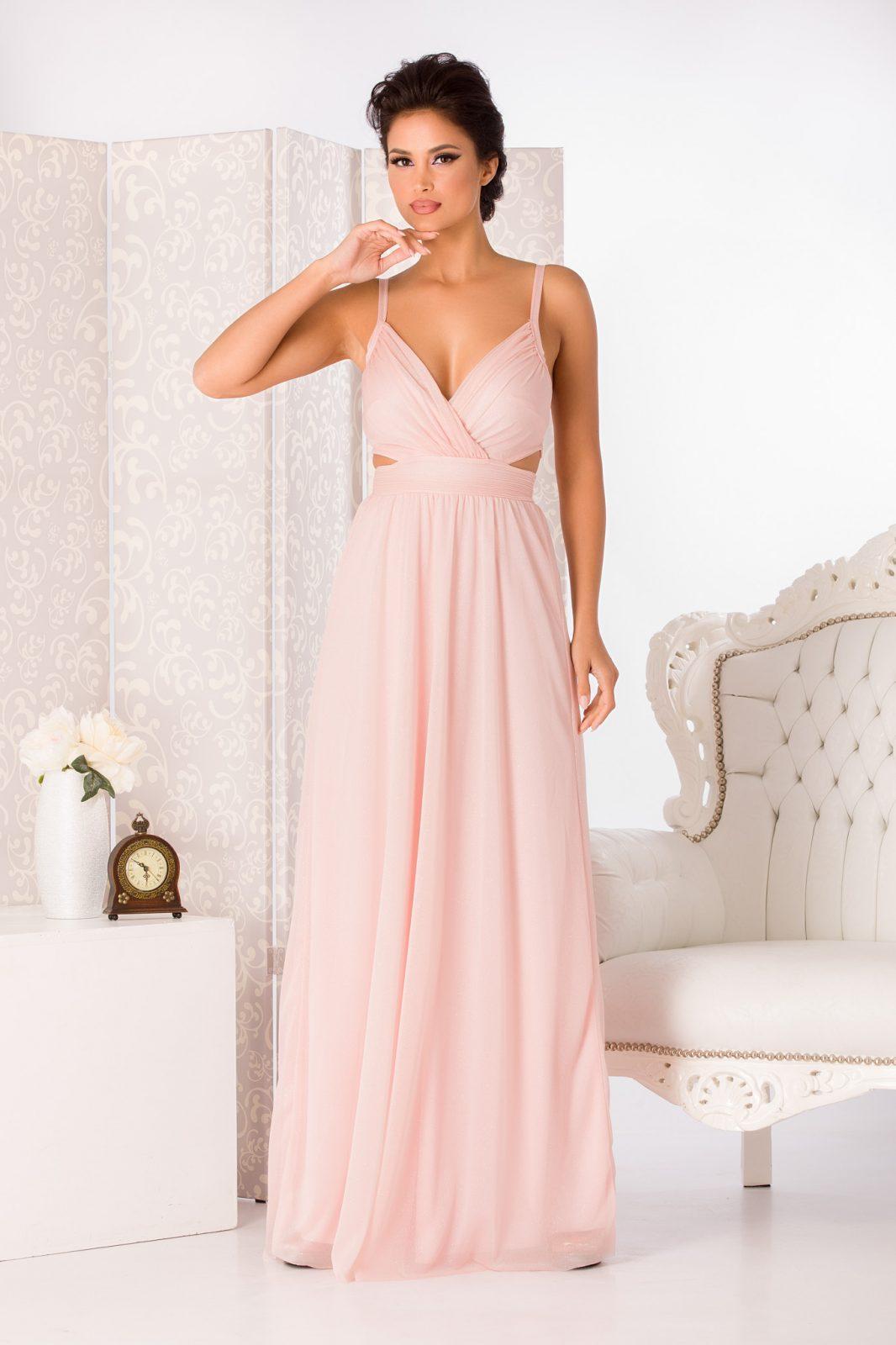 Amaryllis Maxi Ροζ Φόρεμα 4998