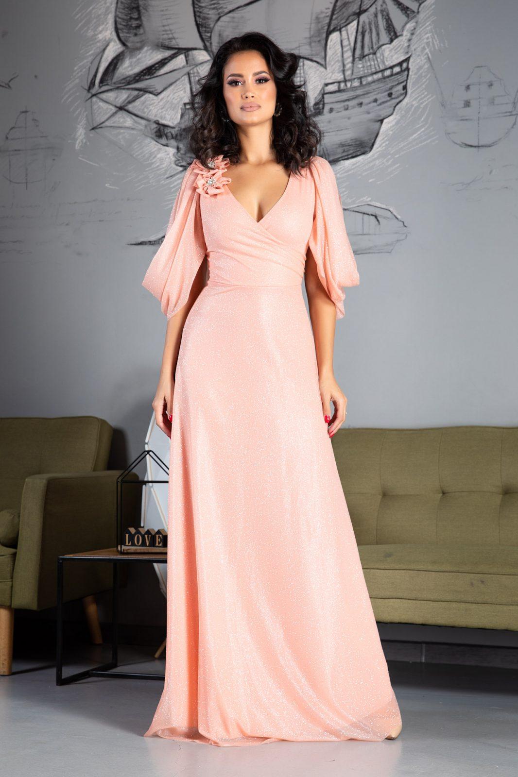 Teresa Maxi Ροζ Φόρεμα 5031