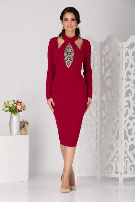 Marynna Burgundy Dress