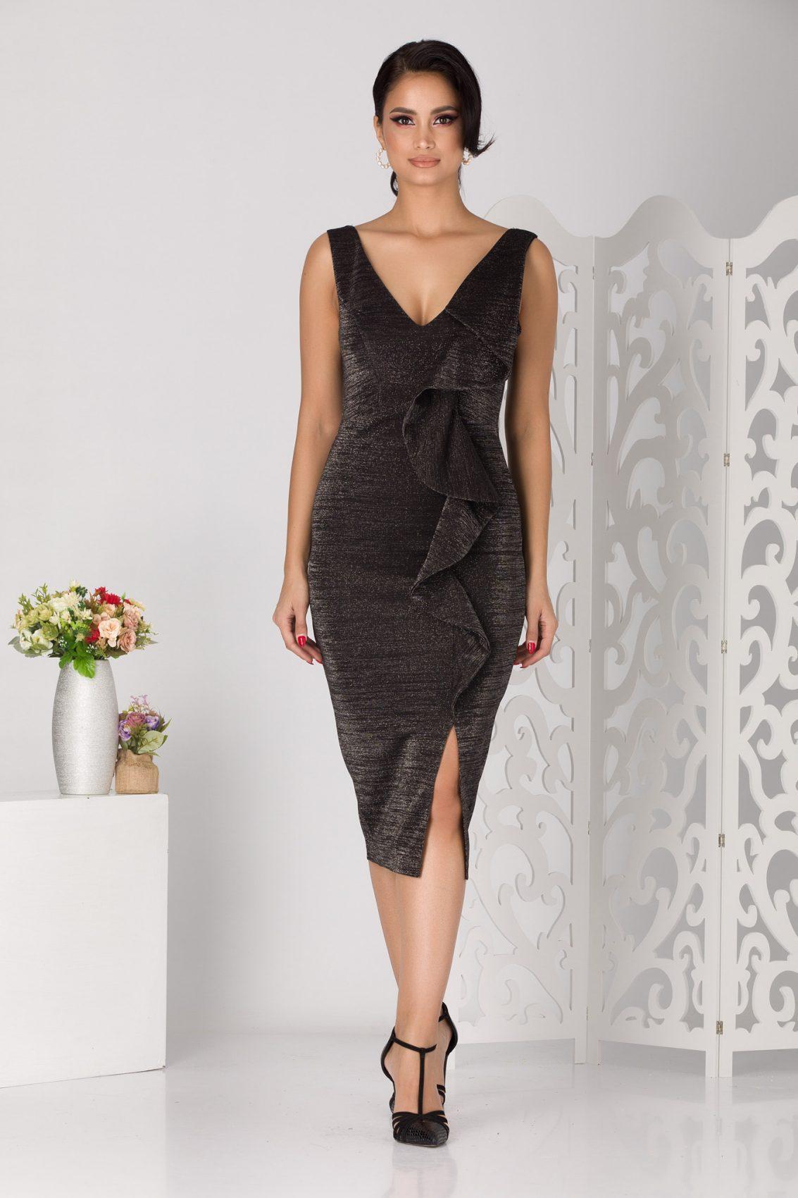 Lorensa Black Dress
