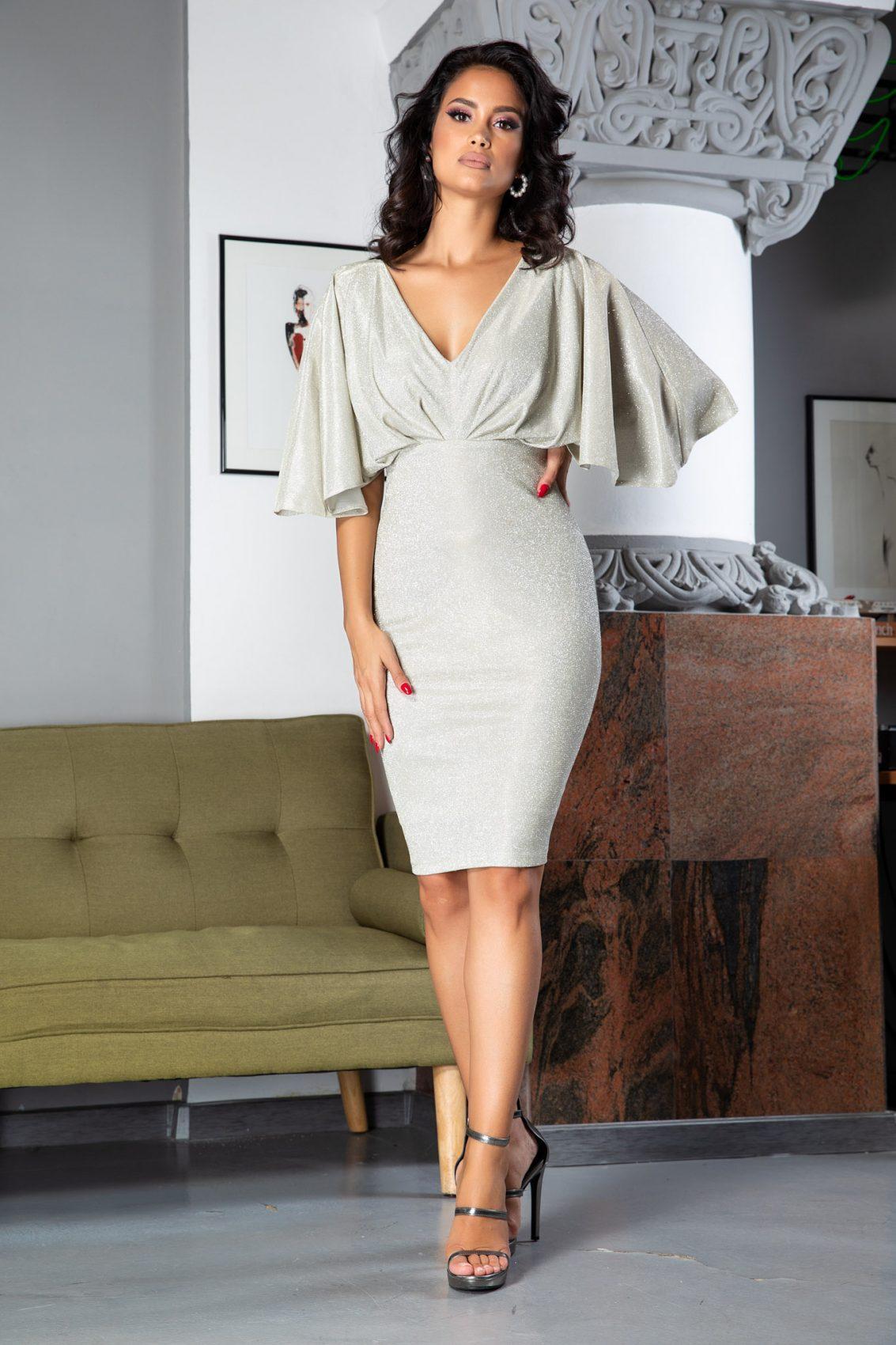 Luana Midi Ιβουάρ Φόρεμα 5062
