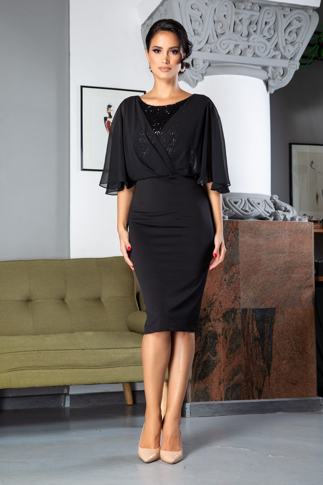 Camille Black Dress