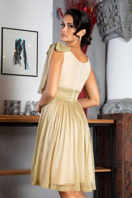 La Donna Deea Μπεζ Φόρεμα 5033