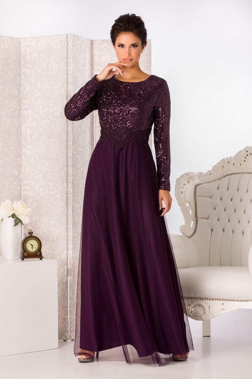 Vierra Maxi Βιολετί Φόρεμα 5005
