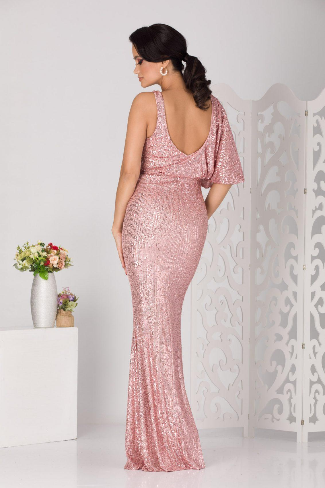 Evya Maxi Ροζ Φόρεμα 5115