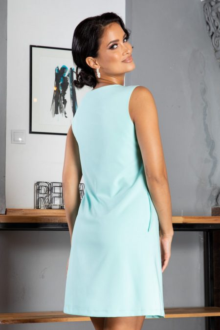 La Donna Evelina Γαλάζιο Φόρεμα 5034