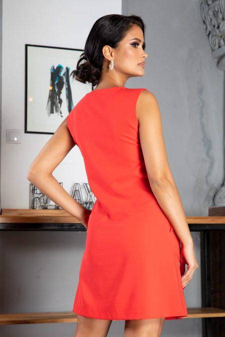 La Donna Evelina Κοραλί Φόρεμα 5035