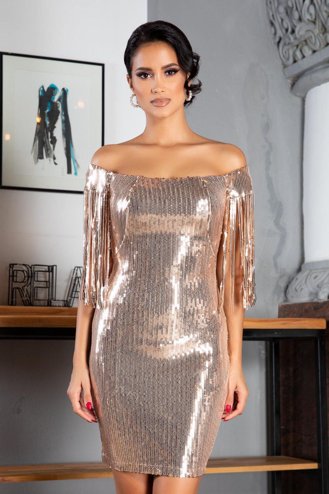 Rubina Golden Dress
