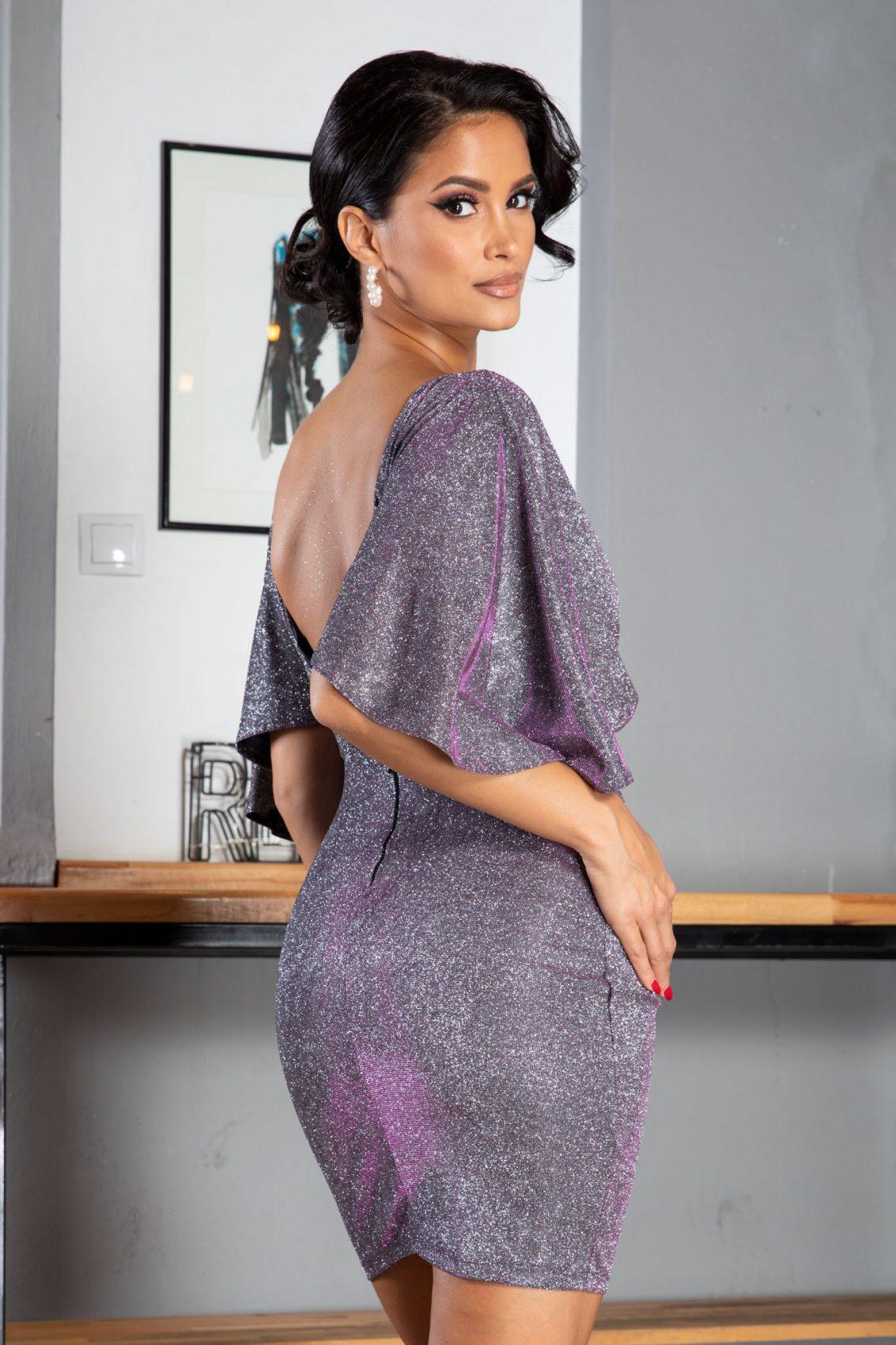 Luana Mini Ασήμι Φόρεμα 5059