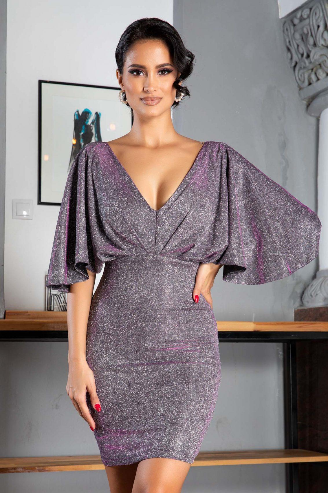 Luana Silver Dress