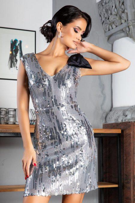 Yana Silver Dress