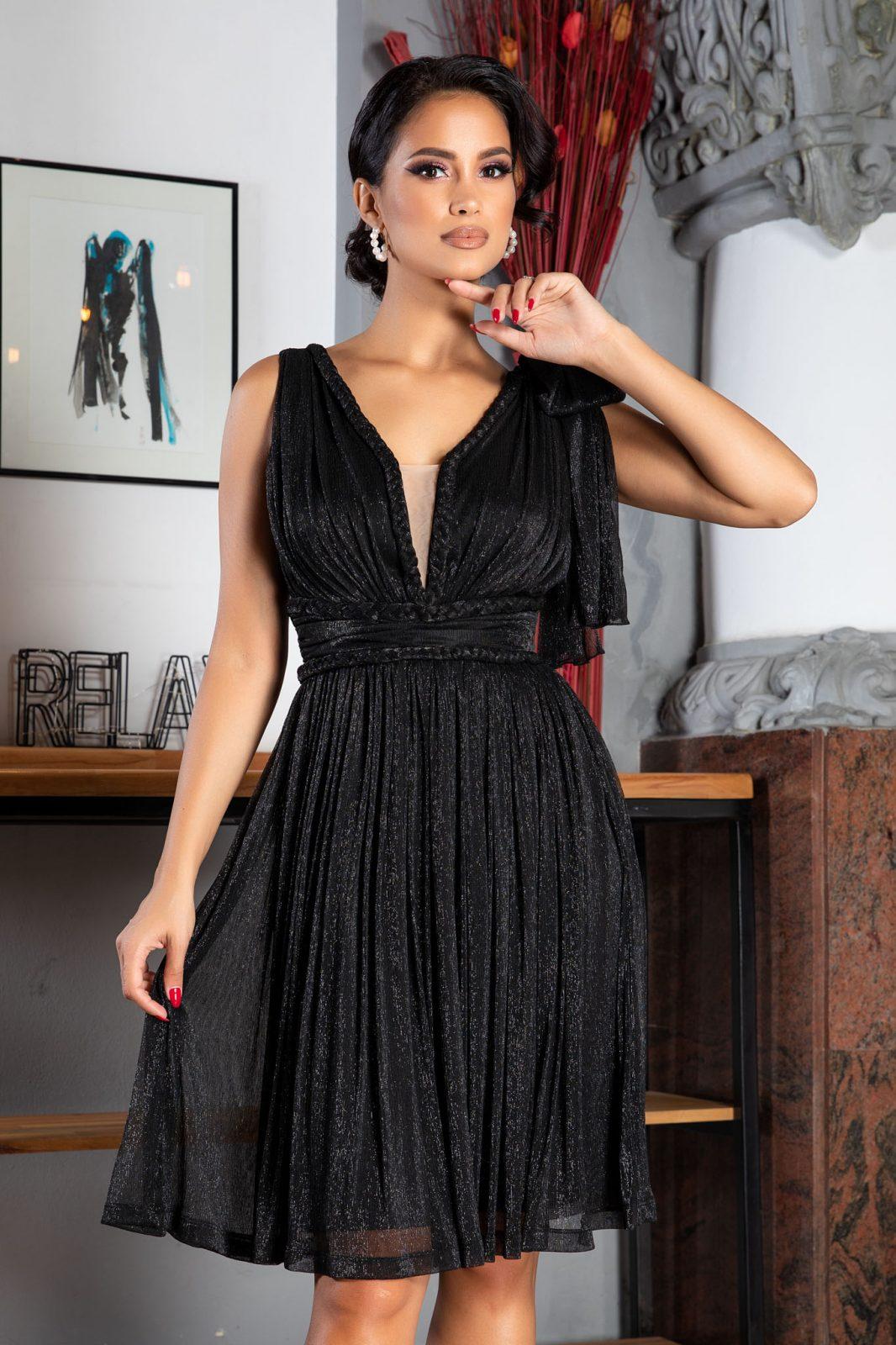 La Donna Deea Μαύρο Φόρεμα 5032