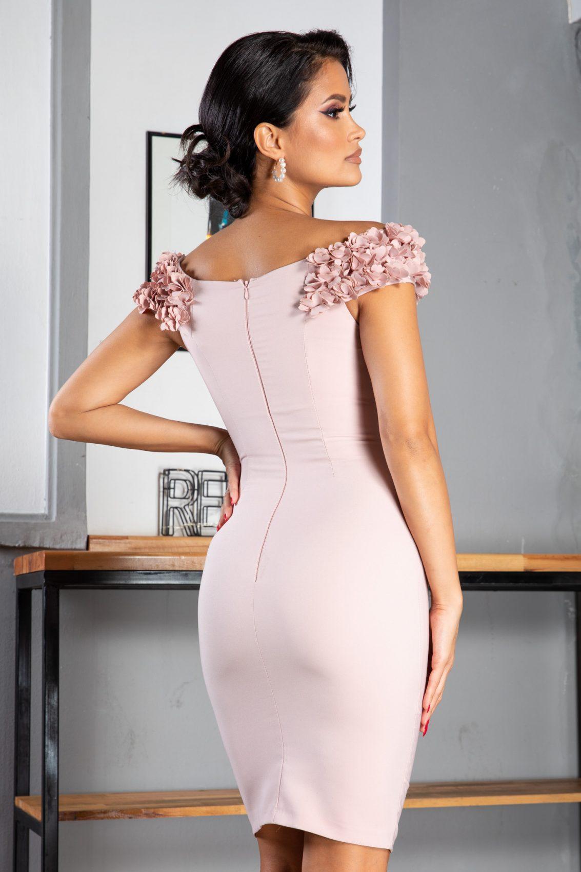 Alive Midi Ροζ Φόρεμα 5057