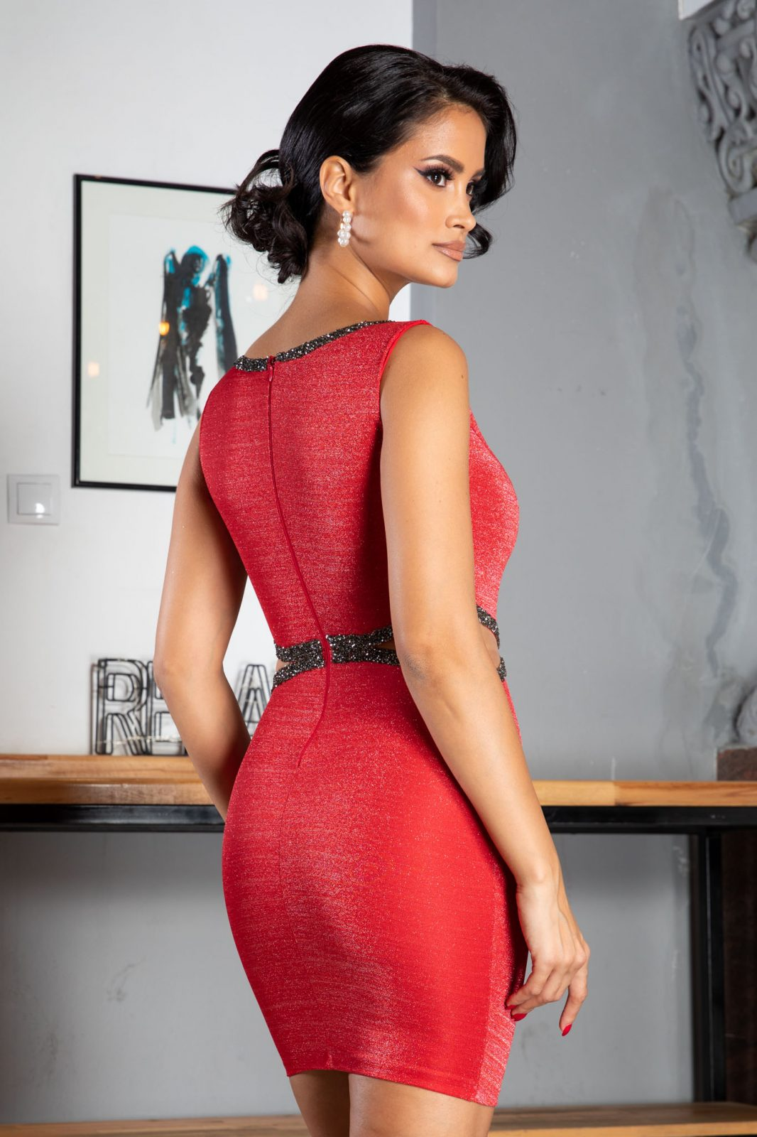Lexie Κόκκινο Φόρεμα 1299