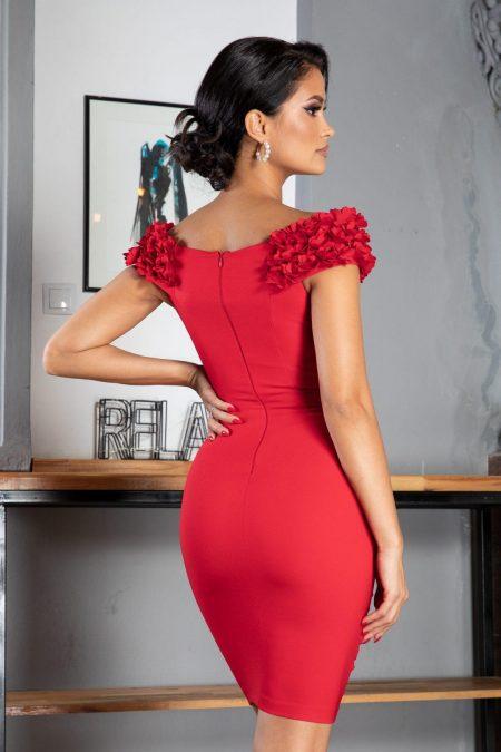 Alive Midi Κόκκινο Φόρεμα 5058