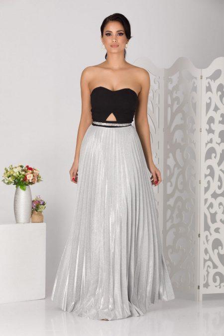 Feminity Silver Dress