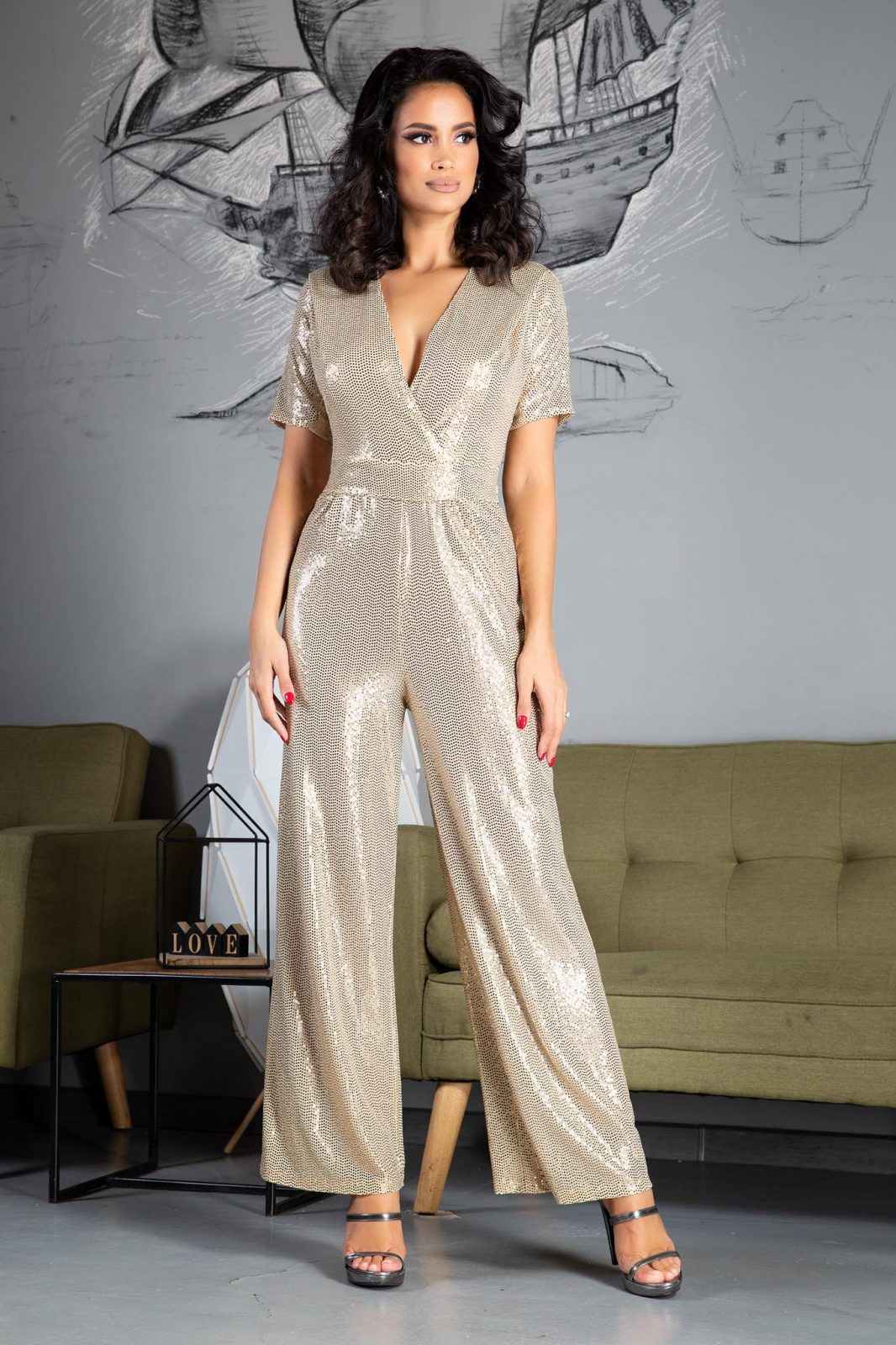 Ginger Golden Jumpsuit