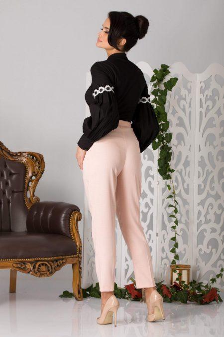 La Donna Betty Μαύρη Μπλούζα 5191
