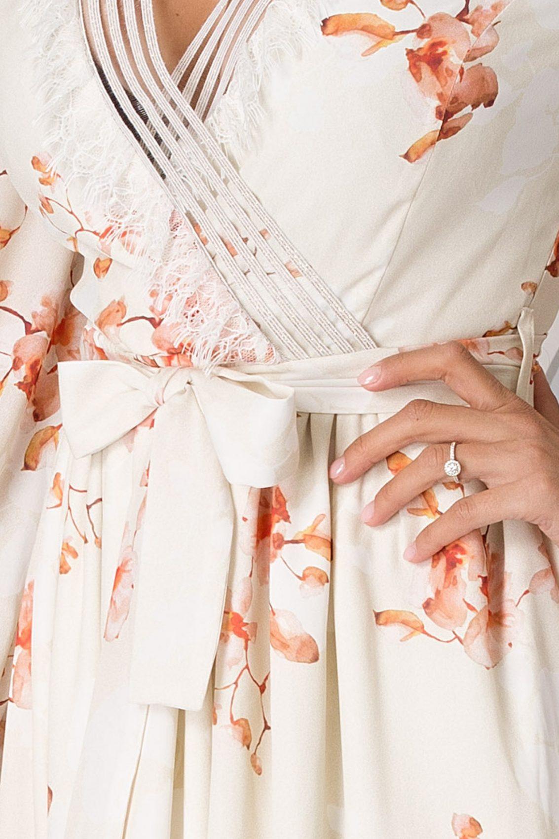 La Donna Mikaella Άσπρο Φόρεμα 5194
