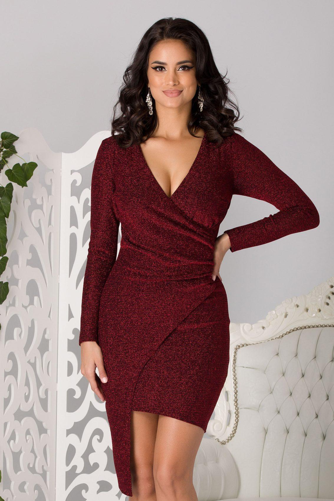 Moze Agatha Burgundy Dress