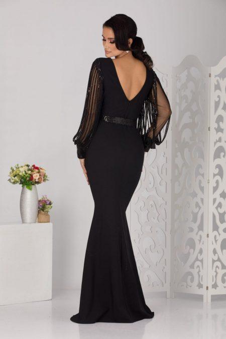 Vedda Maxi Μαύρο Φόρεμα 5130