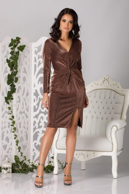 Flirty Brown Dress