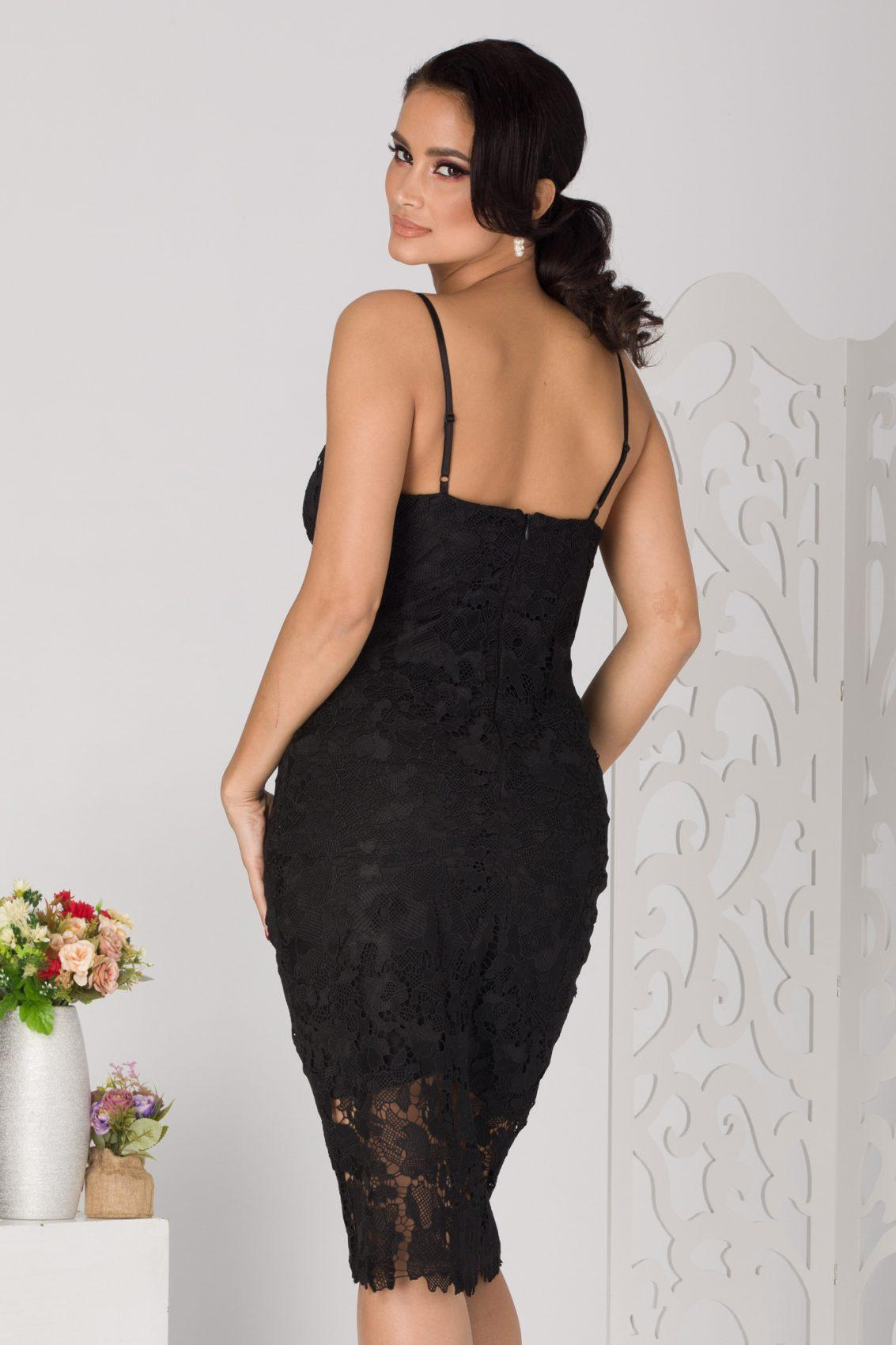 Rihanna Midi Μαύρο Φόρεμα 5098