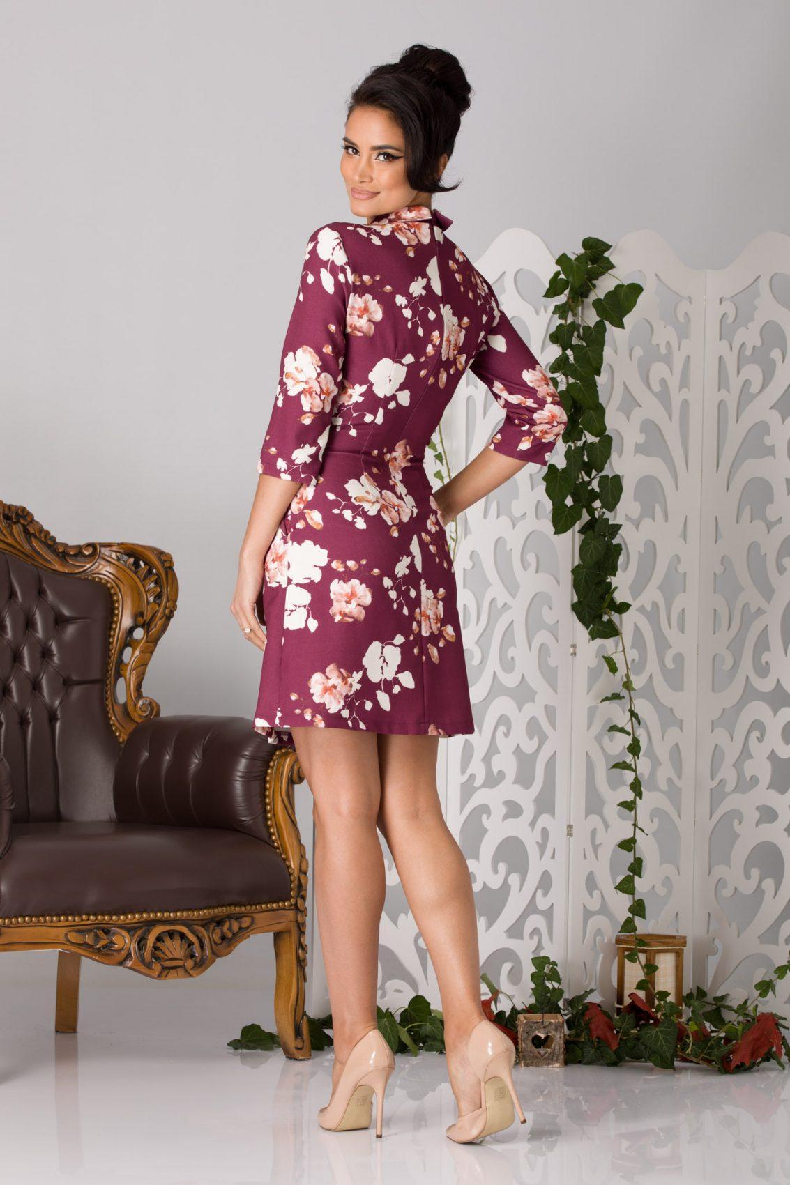 La Donna Erin Μπορντό Φόρεμα 5199