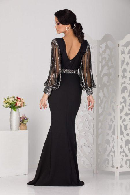 Letty Maxi Μαύρο Φόρεμα 5129