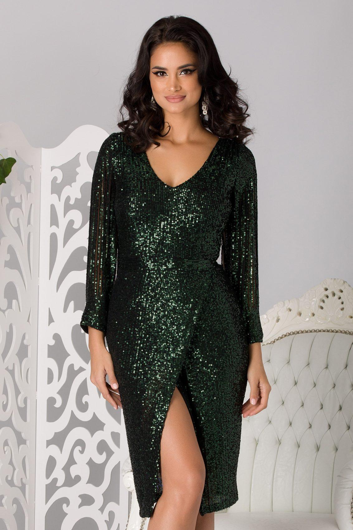 Moze Anabell Green Dress