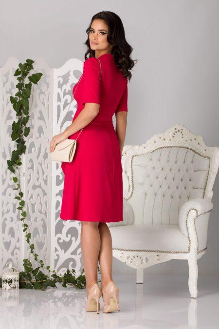 Celyne Midi Φούξια Φόρεμα 5183